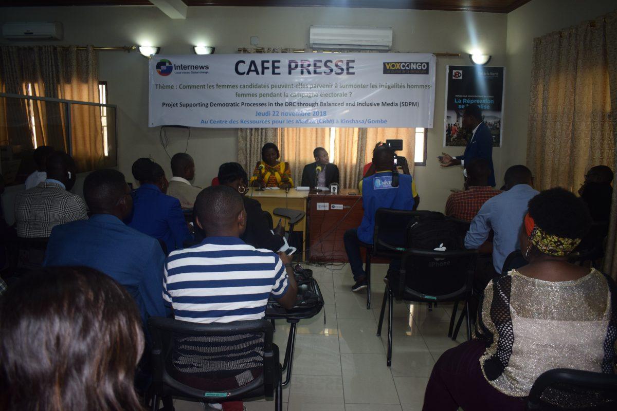 Café presse : VoxCongo a organisé un Café presse le 22 novembre 2018 au Centre des Ressources des Médias à Kinshasa.