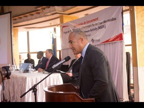 Cérémonie officielle de lancement du nouveau projet de l'USAID pour le renforcement du secteur des médias. (Olivier TUZOLANA/Internews)