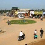 Le rond-point de la localité Manguredjipa à Lubero. CP: DR