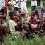 Femmes et enfants pygmées sans abris à Beni CP:DR