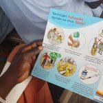 Un prospectus OMS de vulgarisation sur la maladie à virus Ebola CP: OMS RDC