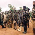Des enfants en formation dans un camp des rebelles au Nord-Kivu CP: Radio Okapi